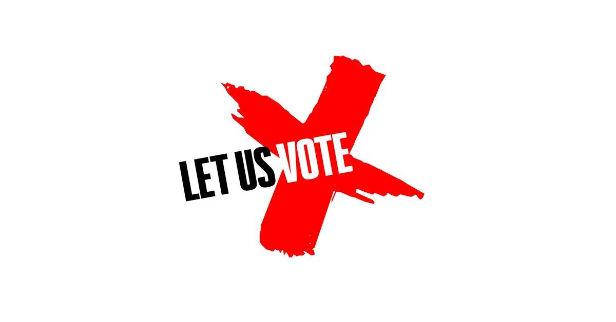 Let Us Vote campaign logo