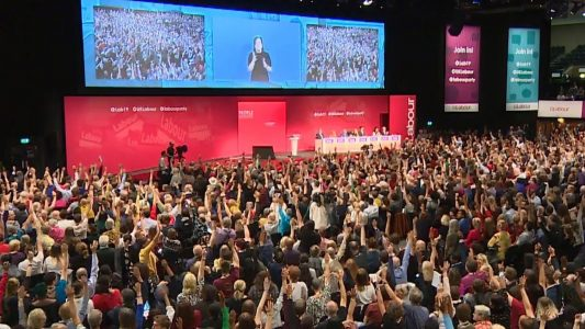 Delegates voting at Labour Party Conference 2019