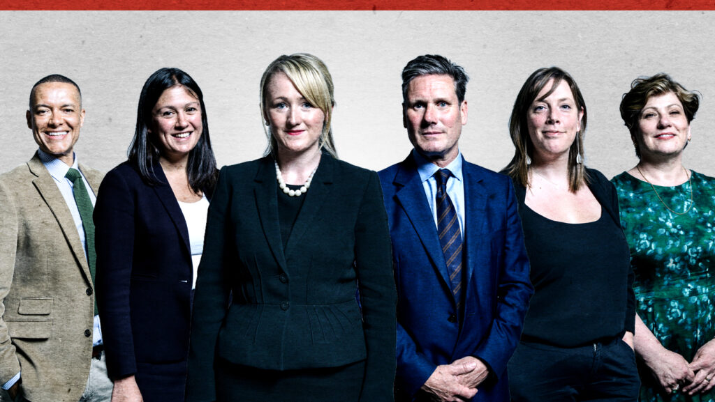 Pictures of the candidates for Labour leader: Clive Lewis, Lisa Nandy, Rebecca Long-Bailey, Keir Starmer, Jess Phillips, Emily Thornberry